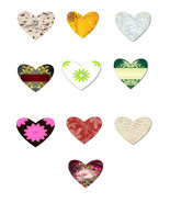 10 Flowers and Outdoor Hearts HA-Digital Download-ClipArt-Art Clip-Banne... - $6.00