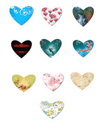 10 Flowers and Outdoor Hearts-Digital Immediate... - $5.00
