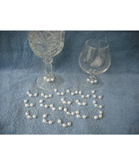 Set of 24 White Pearls Wine Glass Charms-Party-... - $14.99
