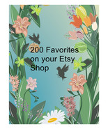 200 favorites on your Etsy Shop Items. - $14.00