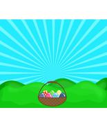 Easter Basket with Green Landscape-Digital Imme... - $3.00
