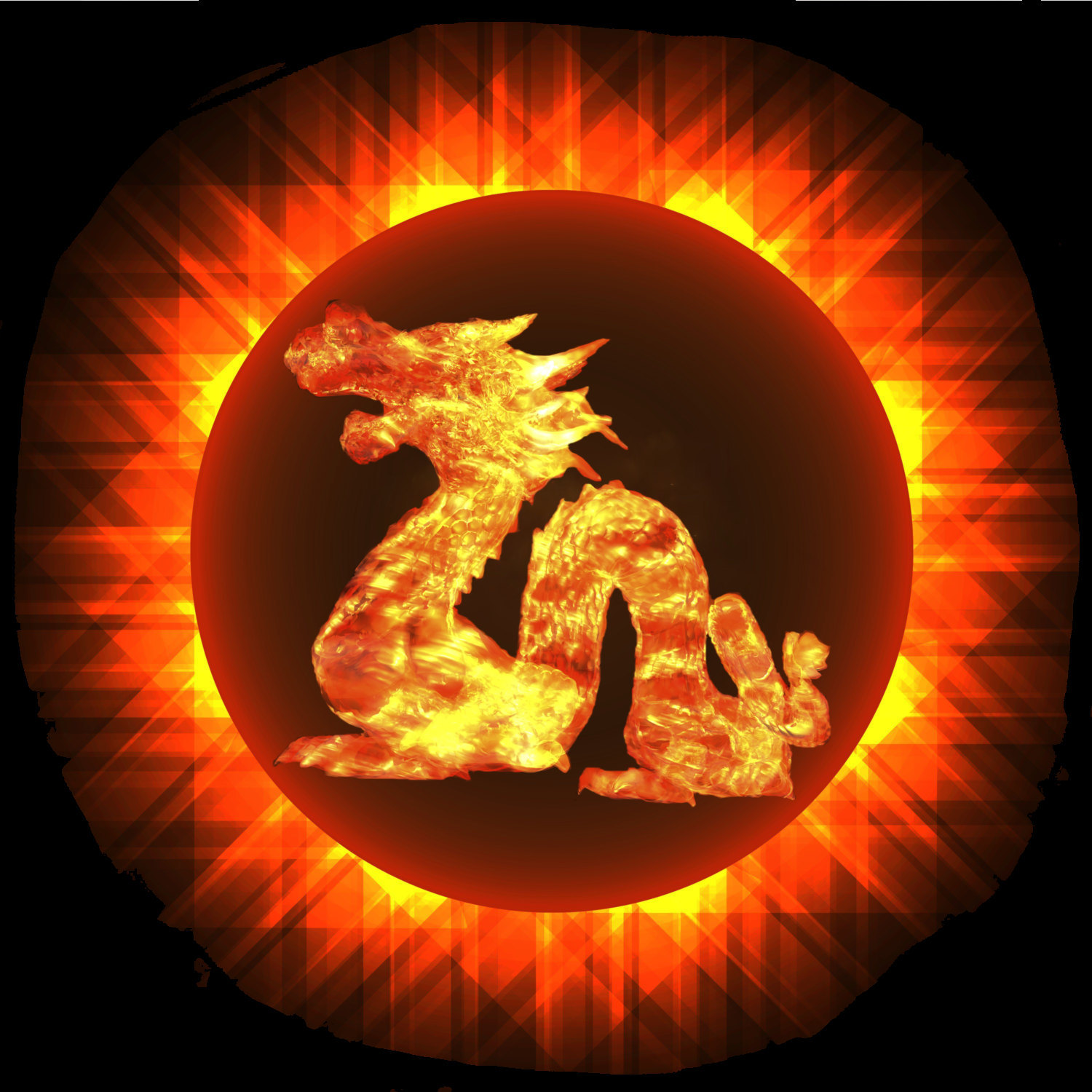 Solar Eclipse with Dragon-Digital Immediate Download-ClipArt-Art Clip