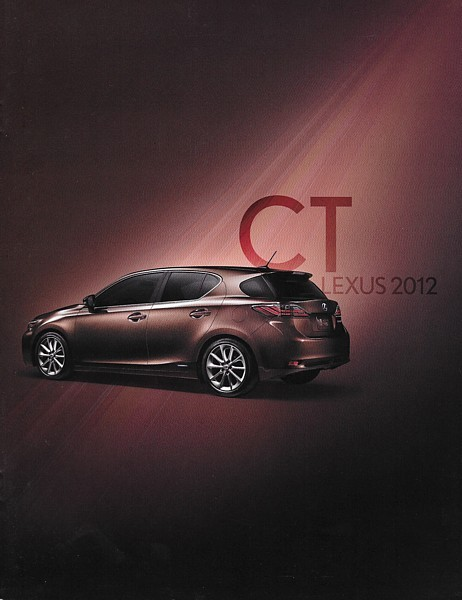 2012 Lexus CT 200h HYBRID sales brochure catalog 12 US
