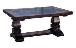 Rustic Gran Hacienda Pedestal Coffee Table Wood Western Cabin Lodge Old ... - €500,61 EUR