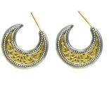 02001253 gerochristo 1253 gold crescent byzantine earrings 1 thumb155 crop