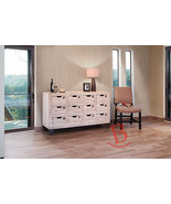 Gabriel Multi Drawer White Color Console 12 Numbered Drawers Industrial ... - $975.15