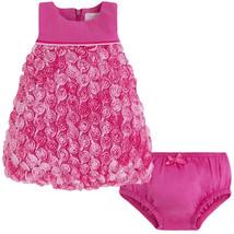 Mayoral Baby Girls 0M-12M Fuchsia-Pink Bonaz Rosette Bubble Hem Social Dress