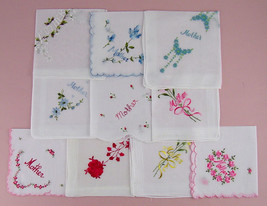 Choice of Vintage Handkerchief for Mother - Some have Sold (Inventory  Lot #H13) - $12.00