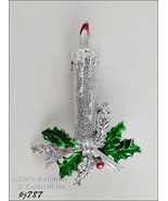 Gerrys Christmas Decorated Candle Shaped Pin (Inventory #J787) - $12.00