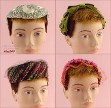 Lot of 4 Vintage Hats (Inventory #HAT240) - $78.00