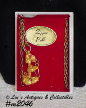 Vintage Poodle Zipper Pull Still in the Original Box (Inventory #M2046) - $15.00