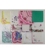 Vintage Hanky Lot of 1 Dozen Assorted Vintage Hankies Handkerchiefs  (Lo... - $50.00