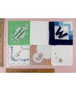 Choice of Vintage Monogram Handkerchiefs Monograms H, M, W, J, B, V (Mon... - $18.00