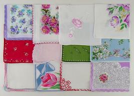 Vintage Hanky Lot of 1 Dozen Assorted Vintage Hankies Handkerchiefs  (Lot #L8) - $70.00