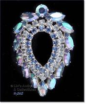 Sarah Coventry Blue Lagoon Rhinestone Pin (#J562) - $38.00