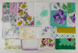Vintage Hanky Lot of 1 Dozen Assorted Vintage Hankies Handkerchiefs  (Lot #P8) - $68.00
