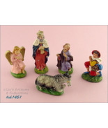 Lot of 5 Vintage Italian  Nativity Pieces  (Inventory #CH1451) - $30.00