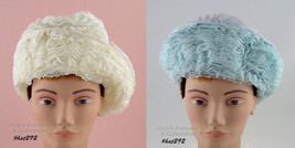 Two Vintage Lace Covered Hats by Marshall Field  (Inventory #HAT292) - $50.00