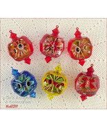 Set of 6 Vintage Jewel Brite Ornaments  (Inventory #CH1311) - $38.00