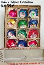 1 Dozen Vintage Poland Glass Christmas Ornaments (Inventory #CH1026) - $68.00