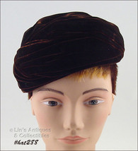 Vintage Brown Hat by Irene of New York (Inventory #HAT288) - $30.00