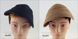 Choice of Black or Tan Color Vintage Hat by Wm. Silverman of New York  (#HAT294) - $50.00