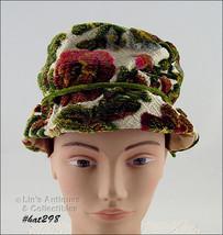 Vintage Weekend Hat Raised Design Like Upholstery Material  (Inventory #HAT298) - $48.00