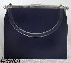 "Vintage L and M ""Rigid Riversible"" Black Handbag Purse by Edwards (Inven... - $48.00"