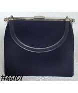 "Vintage L and M ""Rigid Riversible"" Black Handbag Purse by Edwards (Inven... - $48.00"