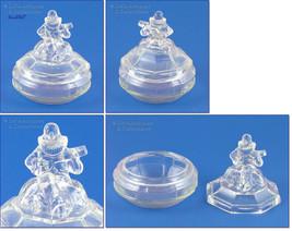 Vintage Minstrel Glass Powder Jar Dresser Jar at Lin's Antiques (Inv. #M... - $90.00