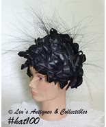 Vintage Christian Dior Couture Black Hat (Inventory #HAT100) - $150.00