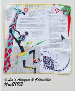 Vintage Astrology Sign Hanky Handkerchief for Scorpio  (Inventory #M2193) - $28.00