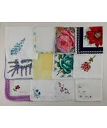Vintage Hanky Lot of One Dozen Assorted Vintage Hankies Handkerchiefs (L... - $45.99