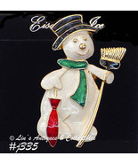 Eisenberg Ice Dapper Snowman Pin on Original Display Hang Card (Inventor... - $48.00