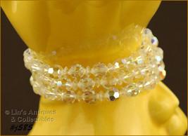 Vintage Three Strand Glass Bead Bracelet at Lin's Antiques (Inventory #J585) - $68.00