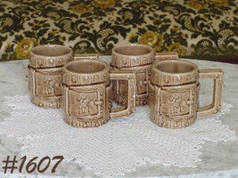 McCoy Pottery Difficult to Find Set of 4 Western Ware Vintage Mugs (Inv.... - $68.00
