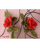 Vintage Red Roses Italian Lights (Inventory CH1504) - $88.00