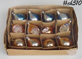 1 Dozen Vintage Poland Tear Drop Shape and Reflector Ornaments (Inventory #CH510 - $50.00