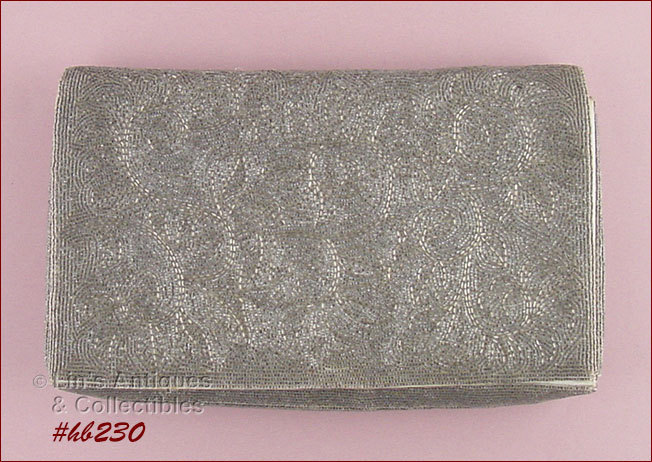Vintage Josef Hand-Beaded Clutch Style Evening Bag  (Inventory #HB230) - $210.00