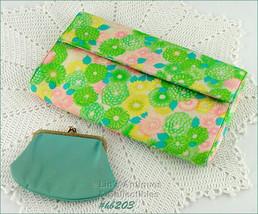 Vintage Bergdorf Goodman Floral Clutch Handbag Purse (Inventory #HB203) - $50.00