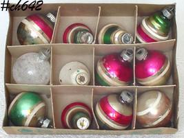 Lot of 1 Dozen Vintage Shiny Brite Ornaments (Inventory #CH642) - $50.00