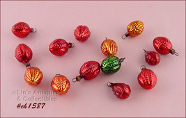 Lot of 14 Vintage Mini Berry and Walnut Shaped Christmas Ornaments (Inv. #CH1587 - $80.00