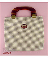 Vintage Whiting and Davis Ivory Color Metal Mesh Handbag in Mint Conditi... - $148.00