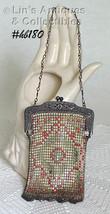 Vintage Enameled Metal Mesh Handbag (Inventory #HB180) - $145.00