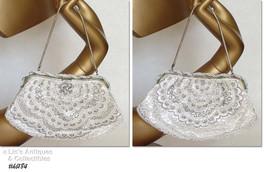 Vintage Beaded Handbag Purse Made in France (Inventory #HB184) - $98.00