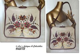 """Vintage Collins of Texas """"Bountiful"""" Handbag Purse (Inventory #HB172) - $60.00"""
