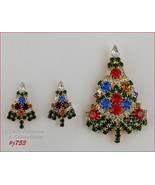 Eisenberg Ice Candle Tree Christmas Pin and Pierced Earrings (Inventory ... - $150.00