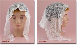 Vintage White Chapel Veil Or Wedding Veil (Inventory #HAT304) - $30.00