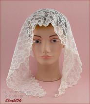Vintage White Chapel Scarf Or Wedding Veil (Inventory #HAT306) - $38.00