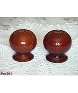 Vintage Fiesta Salt and Pepper Shaker Set in a Warm Brown Color (Invento... - $48.00